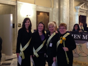 House Minority Whip Jeannie Haddaway-Riccio with Del. Anne Kaiser, Del. Sheila Hixson and Sen. Nancy King