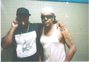 Black Guerrilla Family Founder Ray Alevas and top Maryland BGF member Eric Brown. Photo taken in prison ona cell phone camera by another inmate