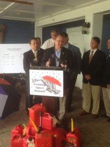 House Minority Leader, Nic Kipke addresses supporters and media
